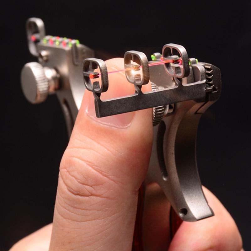 Estilingue catapulta caça de alta qualidade aço inoxidável com faixa de borracha ao ar livre tiro jogo sling shot