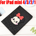 Мода Микки и Минни Smart Case Для ipad mini 4/3/2/1 PU Кожаный Чехол для iPad Mini 4 3 2 1 IM418
