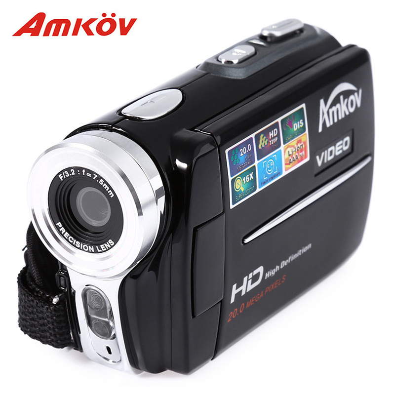 Amkov AMK-DV164 Digital Video Camera 3'' TFT 720P 20MP 32GB 16 Times Digital Zoom DV Video Recorder Camera Professional Camera удлинитель zoom ecm 3