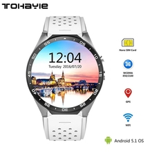 ToHayie KW88 3G WIFI Smartwatch Cell Phone Bluetooth Smart Watch Phone Android 5.1 SIM Card Camera Heart Rate Monitor GPS Watch