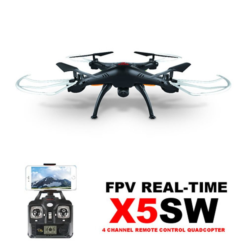 Syma X5SW 2.4Ghz 4CH 6-Axis Gyro RC Headless Quadcopter Drone FPV Explorers  with 2MP HD Wifi Camera