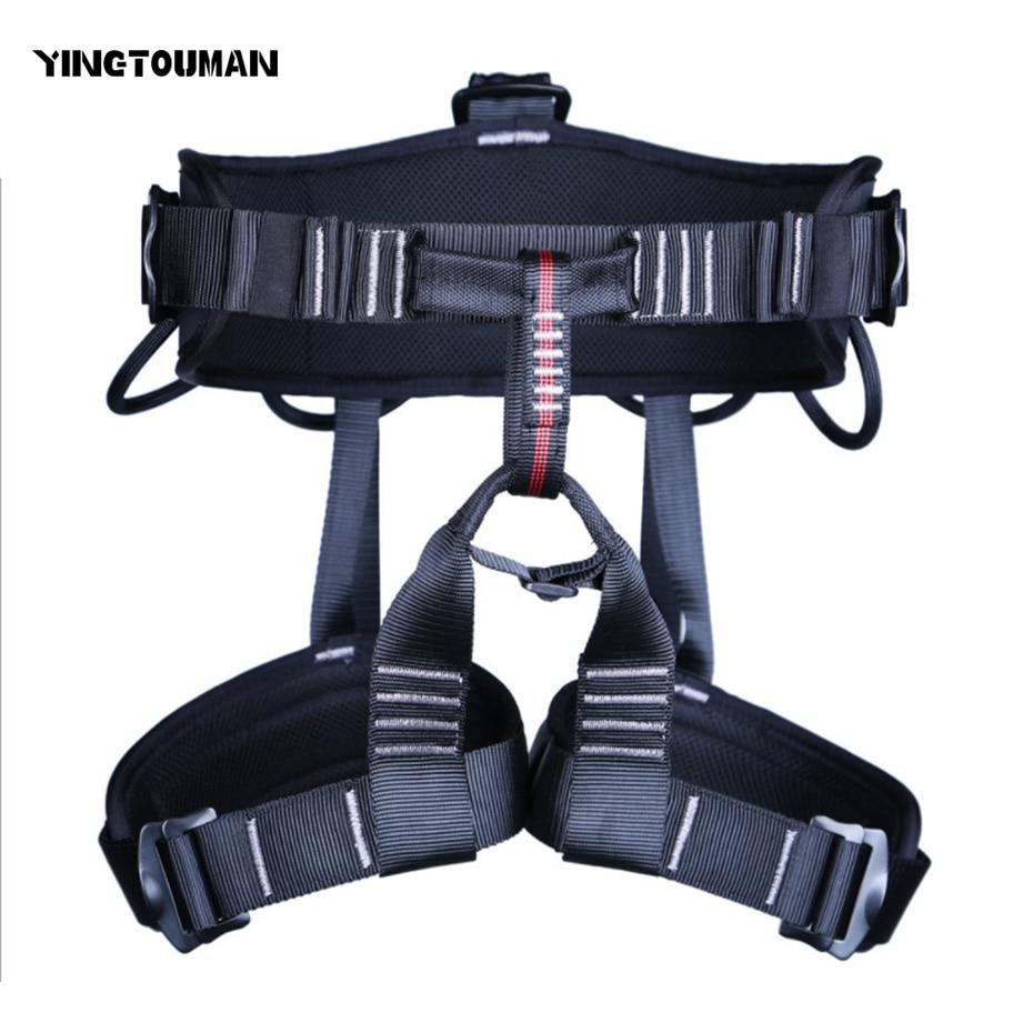 все цены на YINGTOUMAN Outdoor Equipment Harness Bust Seat Belt Rock Climbing Harness Rappelling Harness Seat Belt Safety Belt
