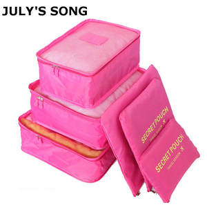 JULY'S SONG 6PCs/Set Travel Luggage Organizer Case Bag