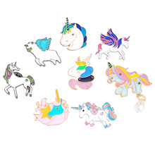 Pins and brooches cartoon colorful flying horse enamel pin Badges jewelry Gift for lover brooch accessories wholesale