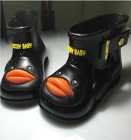 HOT Sale 2016 Kids Spring Autumn Baby Girls Rain Boots Lovely Duck Rainboots Fashion Rubber Shoes