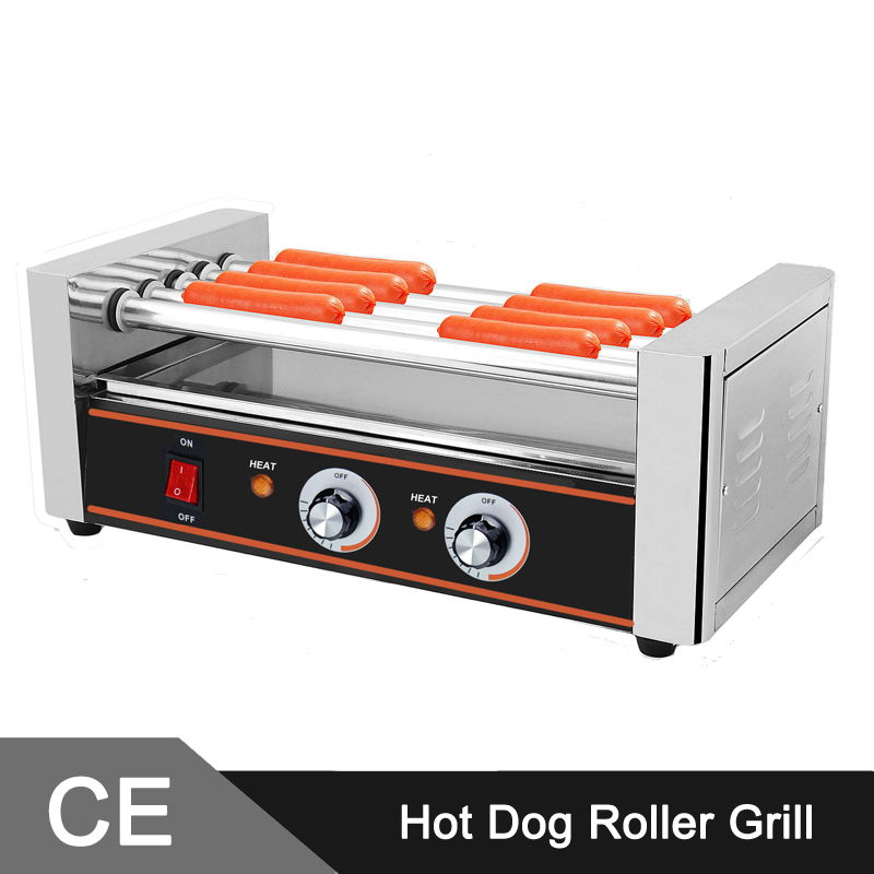12 Hotdogs 5 Roller <font><b>Hot</b></font> <font><b>Dog</b></font> <font><b>Griller</b></font> Machine <font><b>Griller</b></font> For Home and Commercial Use