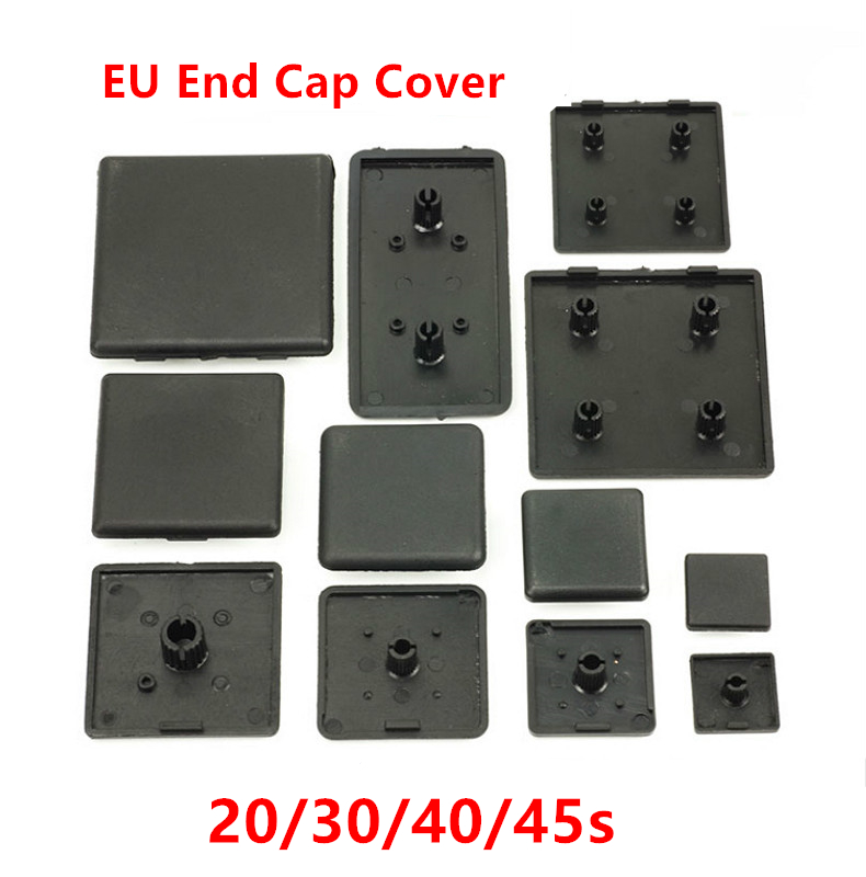 10pcs CNC 3D printer parts plastic end cap cover plate black for EU aluminum profile 2020 2040 <font><b>3030</b></font> 3060 4040 4545 nylon end cap image