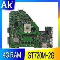 AK X550VC Laptop motherboard for ASUS X550VC R510V X550V X550 Test original mainboard 4G RAM GT720M 2G