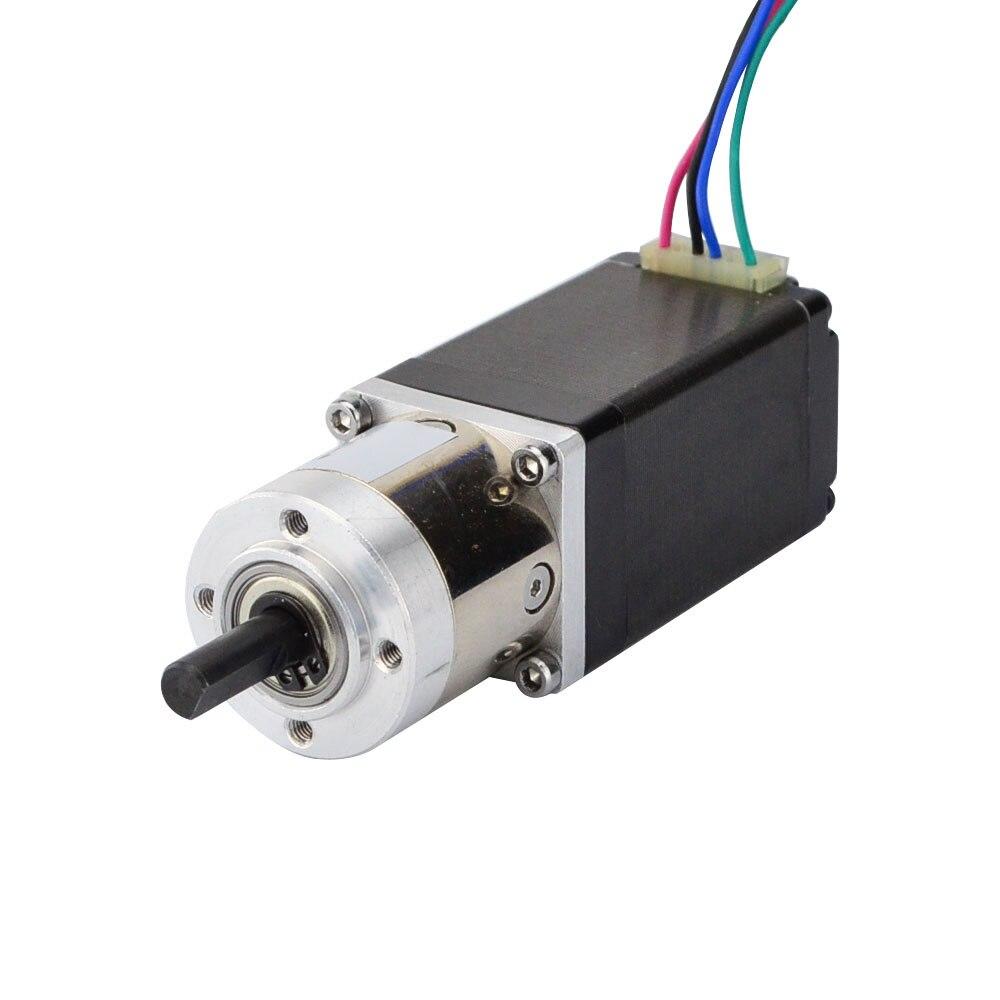 Nema 11 Stepper Motor Bipolar L=51mm w/ Gear Ratio 5:1 Planetary Gearbox nema 17 gear stepper motor l 26mm with planetary gearbox ratio 40 1