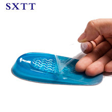SXTT New Silicon Gel Insoles Back Pad Heel Cup for Calcaneal Pain Health Feet Care Support spur feet cushion silica pads