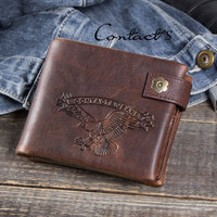 Luxury Brand RFID Wallet Antitheft Scanning Leather Wallet Hasp Leisure Men's Slim Leather Mini Wallet Case Credit Card Purse