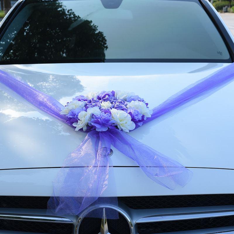 Wedding Party Car Decorations Artificial Flowers Set Wedding Silk