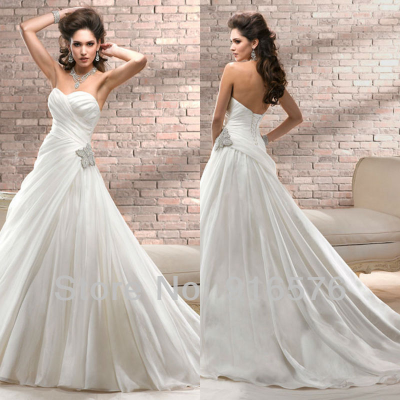 Stunning Crystal Details New 2013 Women Sweetheart A Line
