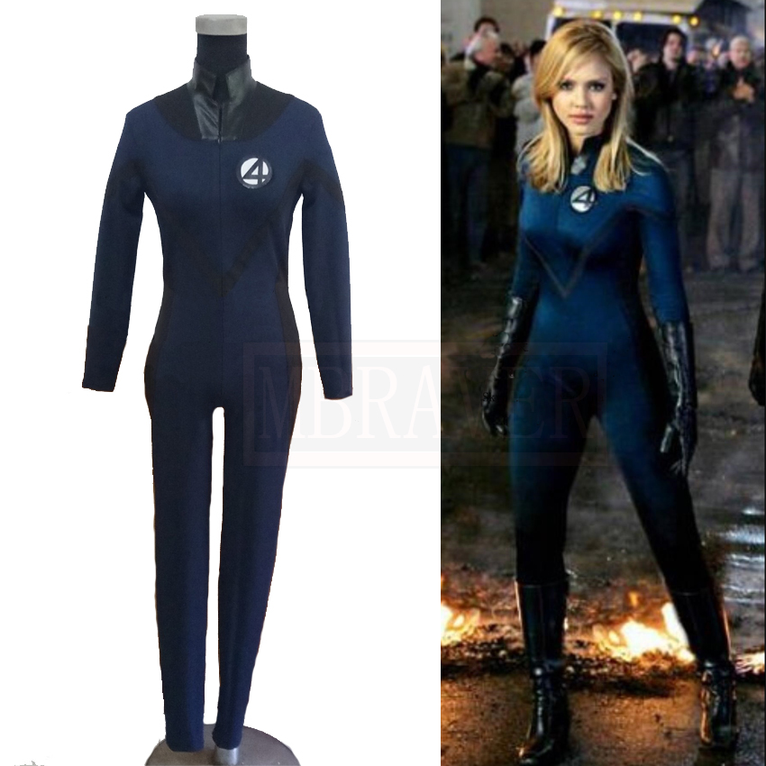 Fantastic 4 Invisible Woman Cosplay Costume Halloween Costumes Custom-Made