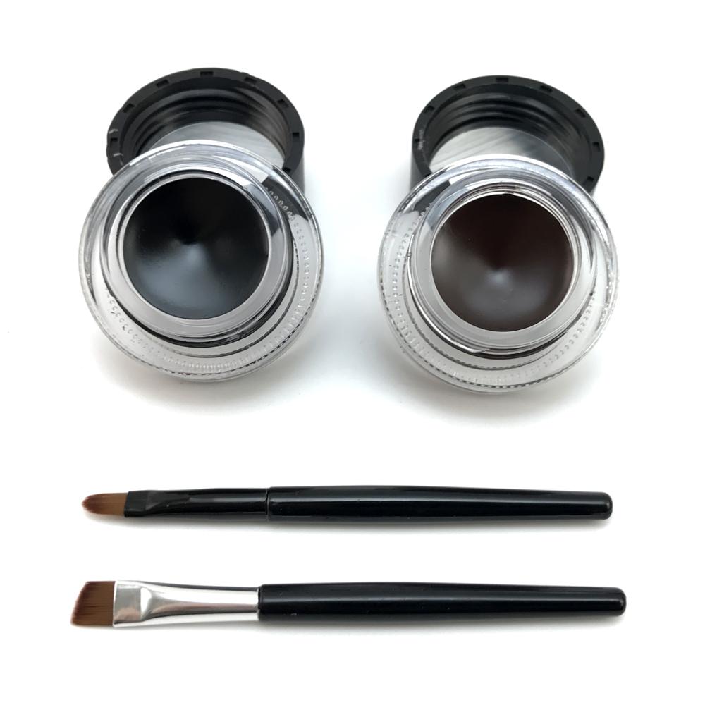 2 in 1 brown + black gel eyeliner make up free shipping waterproof freeshipping cosmetics set eye liner makeup eye 9