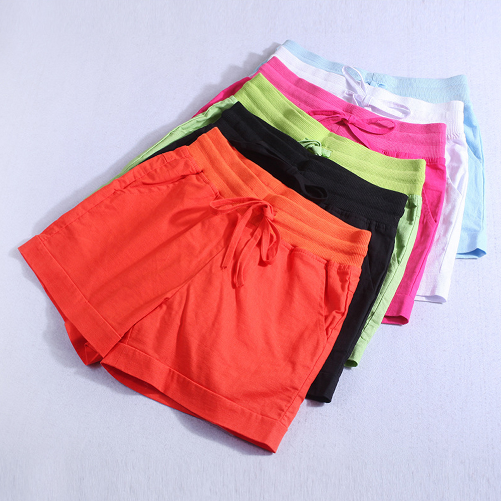 Women New Summer   Shorts   Cotton Linen Casual   Short   Plus Size Breathable Soft Hot   Shorts   Lady Students Bottoms Female Home   Shorts