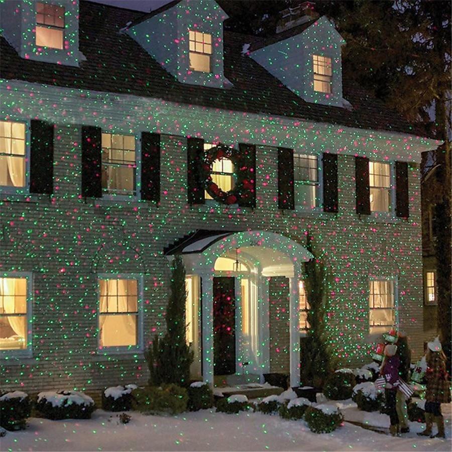 Sky Star Laser Projector Christmas Outdoor Waterproof Lawn Spotlight For Landscape Park Garden Stage Lights Party