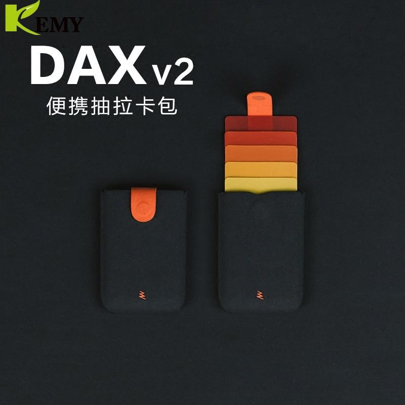 2019 New Arrival DAX V2 Mini Slim Portable Card Holders Pulled Design Men Wallet Gradient Color 5 Cards Money Short Women Purse