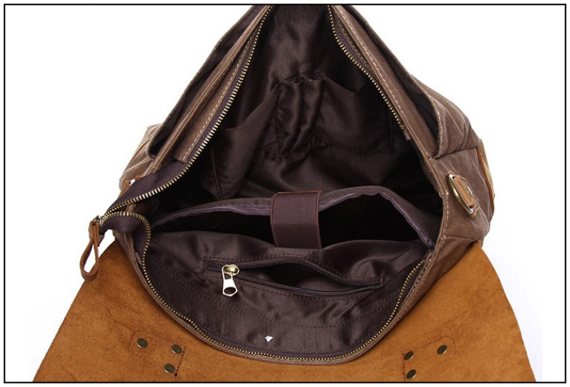 Foikvoon hombres Vintage bolso de mensajero de moda todo-fósforo bolsa de mensajero de marca hombre Popular Casual bolso de hombre bolsa de negocios - 6