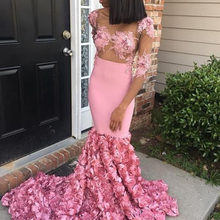 Sexy Pink Prom Dresses 2019 See Through Mermaid Party Dress