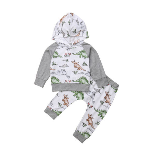 7ea912cbf716 Infant Toddler Kids Baby Boy Girl Outfits Clothes Sets Hoodie ...