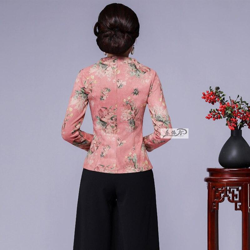 Mariage Show Survêtement Automne Manteau 2018 Dames Chinois Manches Femelle Nouvelle The Bouton Pardessus Femmes Veste as As Surdimensionné Longues À De Picture Wrap Show Mode TnZXZBp