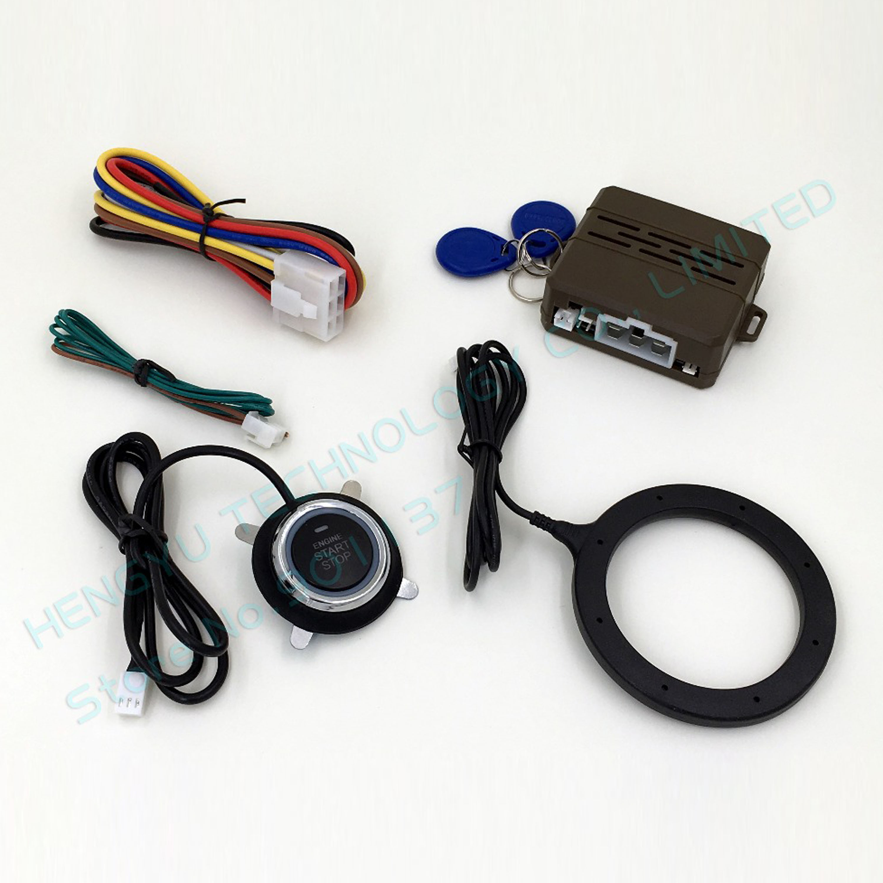 New FS-55S Car Engine Push Start Button RFID Lock Ignition Starter Keyless Go Start Stop Immobilizer System Driving Security