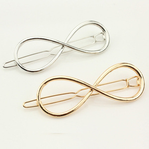 Wholesale 2 Pcs Silver Gold Punk Hollow Out Bow Barrettes Hair Clip Hairpin Clamps Hair Accessories