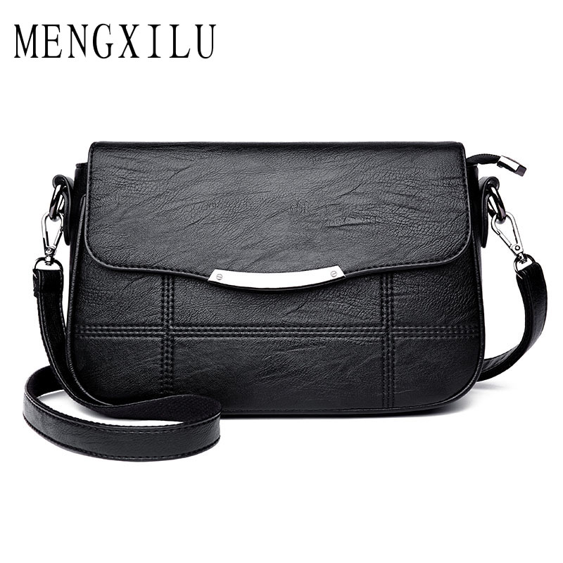 MENGXILU Brand Sequined High Quality Women Messenger Bags Shoulder Small Handbags Women Bags Designer Leather Crossbody Bags Sac