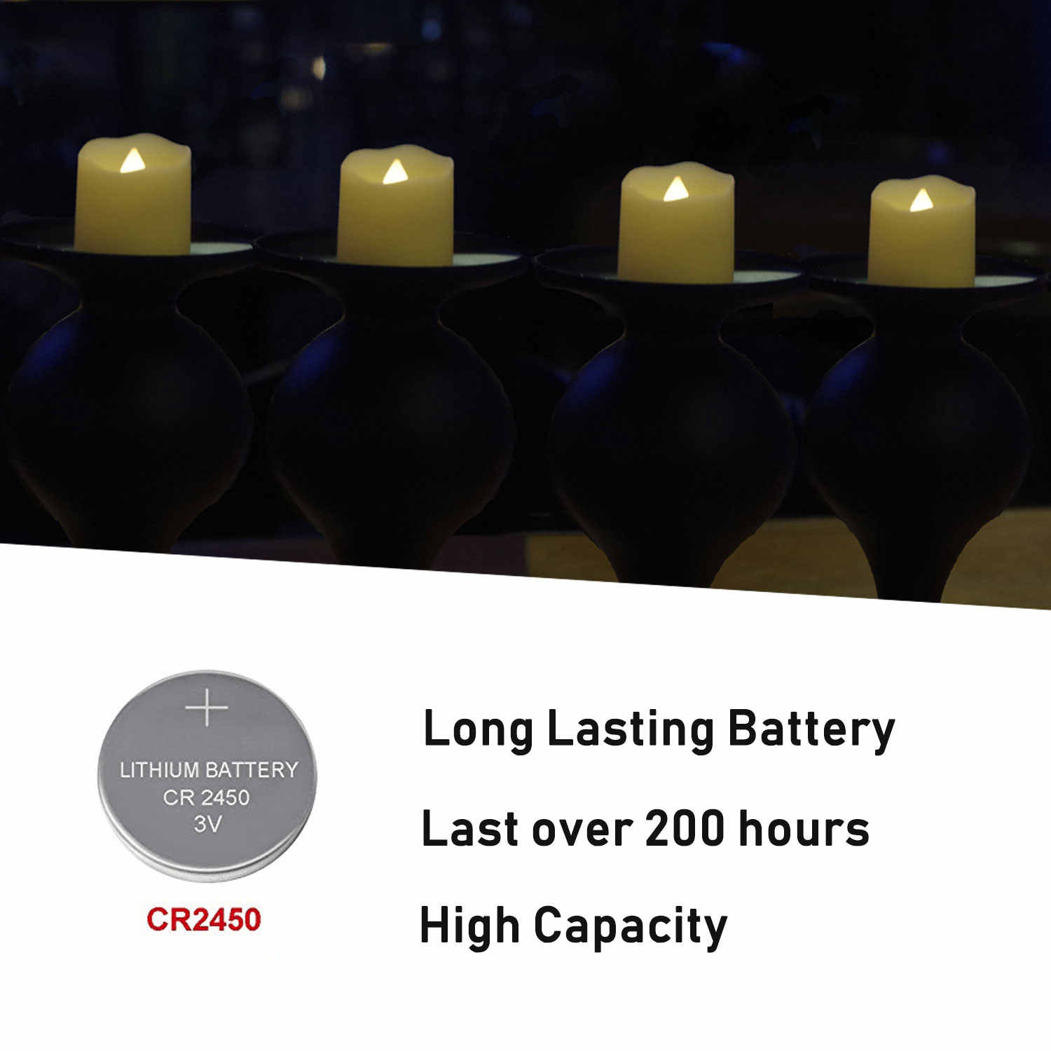 Led Flameless Candles 6 Hours On 18 Off Pack Of Battery Operated Timer Function