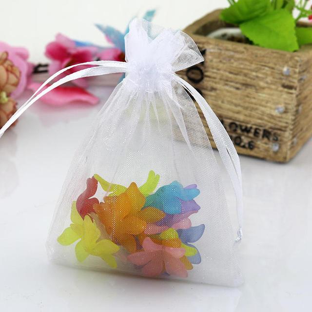 Whole 100pcs Lot White Organza Bag 13x18cm Favor Wedding Candy Gift Cute Bracelet Jewelry