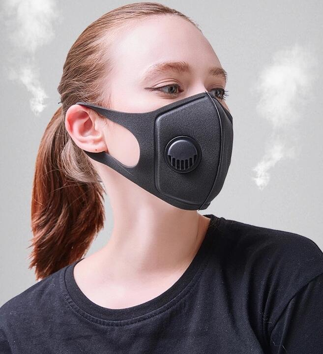 3D Mask PM2.5 Anti Haze Mask Breath Valve Anti-dust Mouth Mask Activated Carbon Filter Respirator Mouth-muffle Black Mask Face