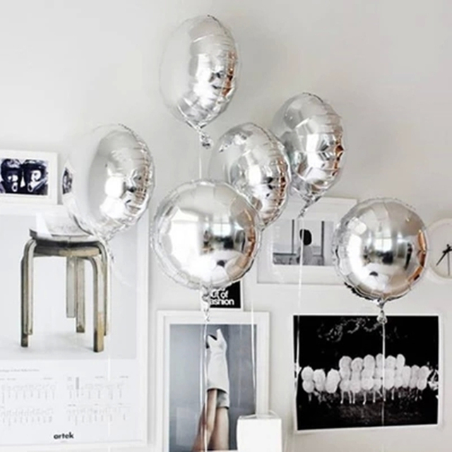 globo de papel de 18 pulgadas decoración de la boda bolas inflables