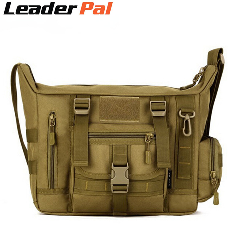Hot A4 Molle Military Shoulder Schoolbag Medium Men Messenger Bags Travel Camera 14 Inch Laptop Crossbody Sling Bag In From