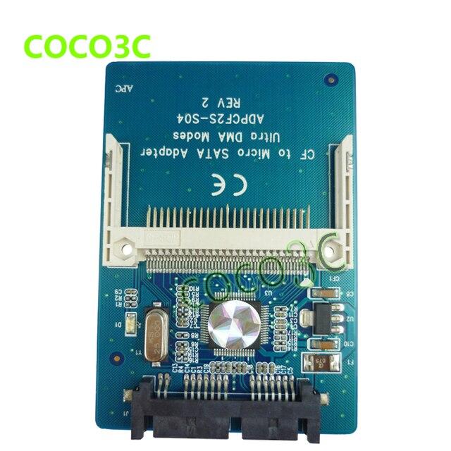 "Бесплатная доставка CF до 1.8 Micro SATA Адаптер 1.8 ""hdd конвертер карт, CF карта для micro sata"