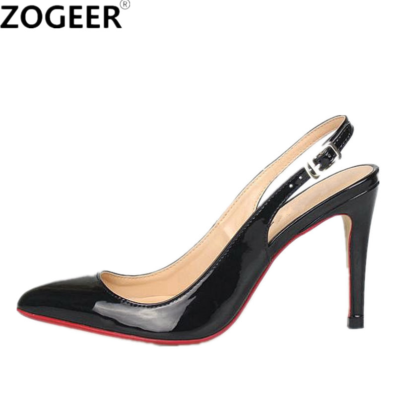 Plus size 48 Hot 2018 Fashion Women Pumps Casual Back Straps Thin High Heels Solid Casual Sandal red nude Wedding Shoes Woman dorisfanny plus size 33 45 hot sale women pumps round toe shoes black white red nude pump high heels wedding shoes