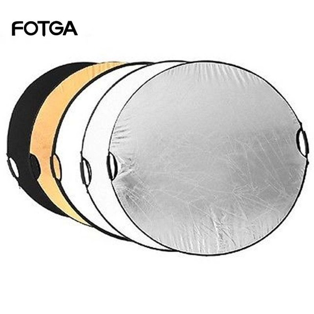 """FOTGA 5 in 1 110cm 43 """"taşınabilir katlanabilir işık yuvarlak fotoğrafçılık reflektör stüdyo için çok fotoğraf disk"""