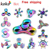Fidget Spinner Hand Spinner Tri Spinners Colorful Cube Hand Spinners Focus And ADHD EDC Anti Stress
