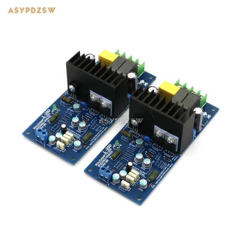 Assembled 2 Channel L25D Digital power amplifier finished board 200-250W*2 (8 ohm) IRAUDAMP7 IRS2092 2 channel l20 se power amplifier finished board transistor amplifier kit a1943 c5200 350w 350w