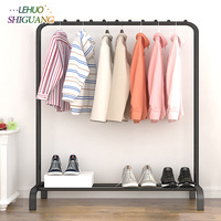 Simple fashion Clothes rack Outdoor balcony storage Shelf stainless steel hanger Single rod Clothes rack hangers furniture