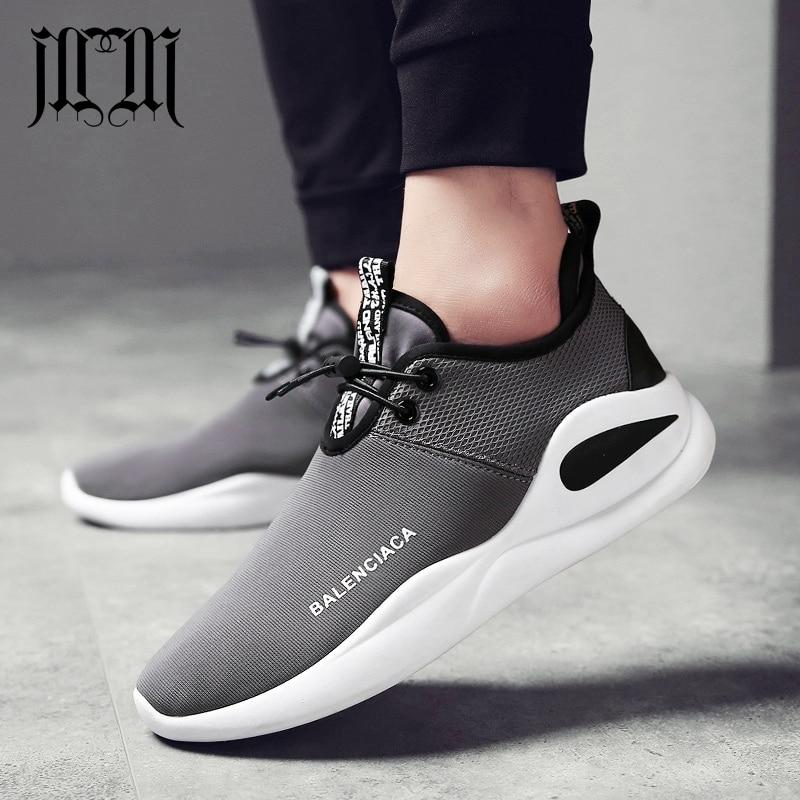 2a54b0d3f MumuEli 2019 Cinza Preto Vermelho Tênis Casuais Sapatos Da Moda De Luxo Homens  Respirável Quente Plana de Alta Qualidade Adulto Masculino Designer de 902