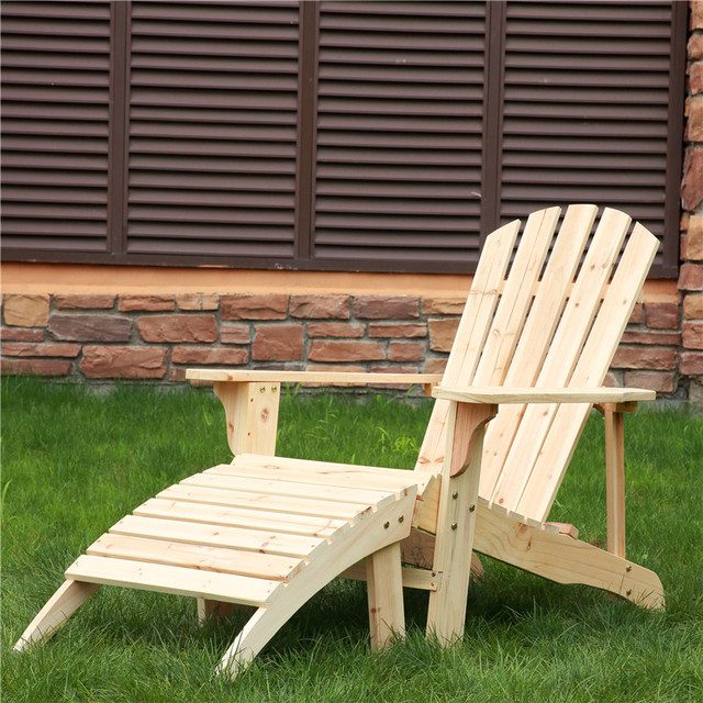 Free Shipping Outdoor Furniture Wood Folding Beach Camping Adirondack Chair  2017new Natural