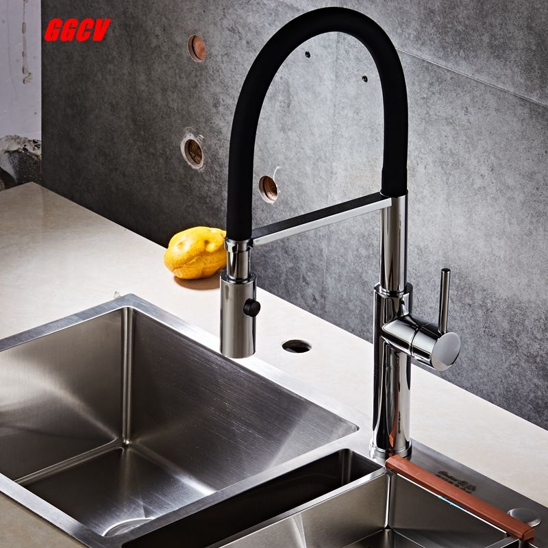 Black kitchen tap, mixer crane faucet with hot and cold water mixer, brass faucet deck with pull out type double discharge mode. solid brass black finish kitchen faucet pull out mixer tap 2 way function water come out deck mounted cold and hot water faucet