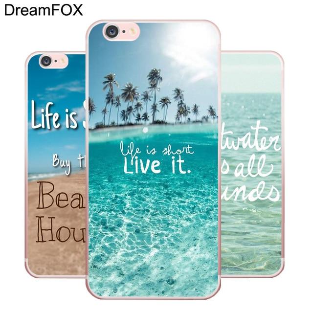 DREAMFOX L235 Sea Ocean Soft TPU Silicone  Case Cover For Apple iPhone X XR XS Max 8 7 6 6S Plus 5 5S SE 5C 4 4S