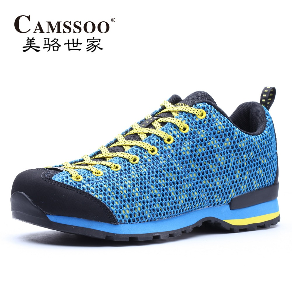 CAMSSOO Men's Mesh Sports Outdoor Hiking Trekking Shoes Sneakers For Men Spring & Fall Climbing Mountain Shoes Man Senderismo merrto men s spring and summer outdoor trekking hiking shoes sneakers for men mesh sports climbing mountain shoes man senderismo