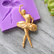 silicone mold fondant mold sugar craft Cake Decorative Molds DIY Dancing Ballet Girl Chocolate Baking Mould ballet skirt cakes molds food grade silicone sugar chocolate cake cookies mold diy decorating baking tool