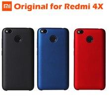 100% המקורי Xiaomi Redmi 4X Case for Xiaomi Redmi 4X4 X קטיפה חומר פלסטיק קשיח + סיבים + קטיפה (פנימי) כיסוי מגן