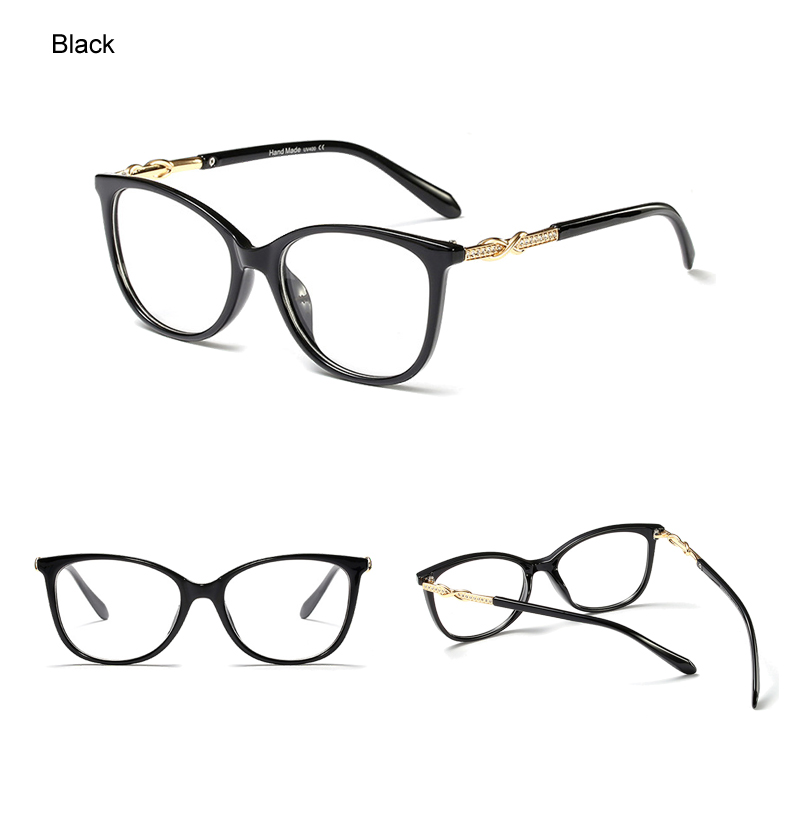 e1c339b09e4 2019 Ralferty 2019 Luxury Crystal Glasses Frames Women Designer ...
