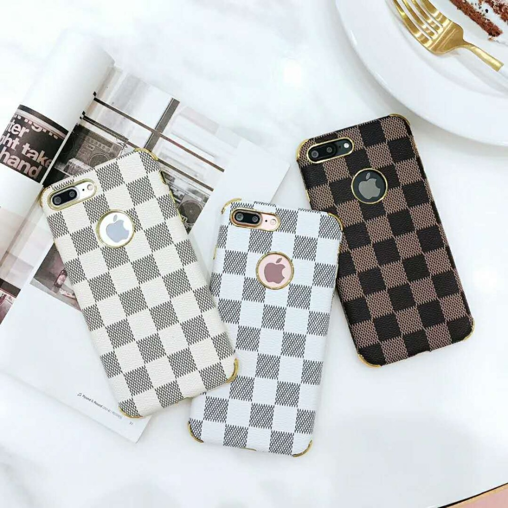 Case For OPPO R11S R11 PLUS R9 R9 PLUS New Shatter-resistant Sleeve Retro Leather Check Pattern Mobile Shell Personality Vintage