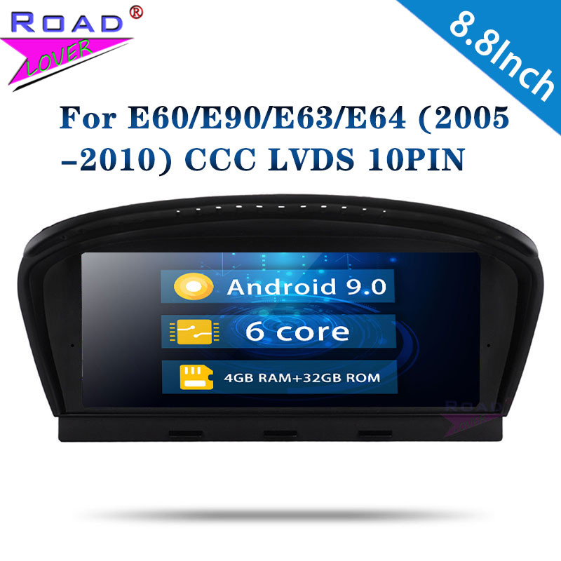 Roadlover Android 9.0 Car Autoradio For BMW 3 Series (2009 2012) For BMW 5 Series E60 (2005 2008) Stereo GPS Navigation NO DVD